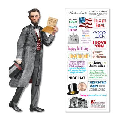 Unemployed Philosophers Guild Quotable Notables Notecard - Lincoln
