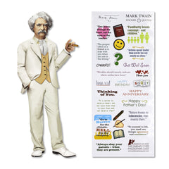 Unemployed Philosopher Guild Quotable Notables Notecard - Mark Twain - Notegeist dot com