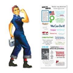 Unemployed Philosopher Guild Quotable Notables Notecard - Rosie the Riveter - Notegeist dot com
