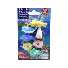 Sea Animals Erasers - Notegeist dot com