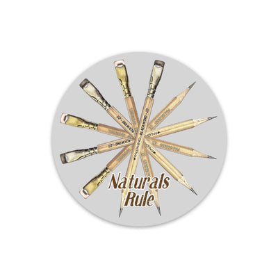 Natural Rules Circle Sticker - Notegeist dot com