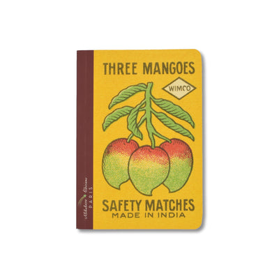 Three Mangoes A6 Lined Notebook - Sampled - Notegeist dot com