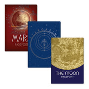 Unemployed Philosophers Guild Passport Notebooks - Astronomy Three-Pack Covers - Notegeist dot com