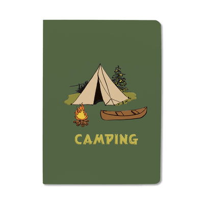 Unemployed Philosophers Guild Passport Notebook - Camping - Notegeist dot com