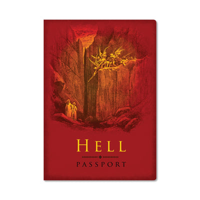 Unemployed Philosophers Guild Passport Notebook - Hell - Notegeist dot com