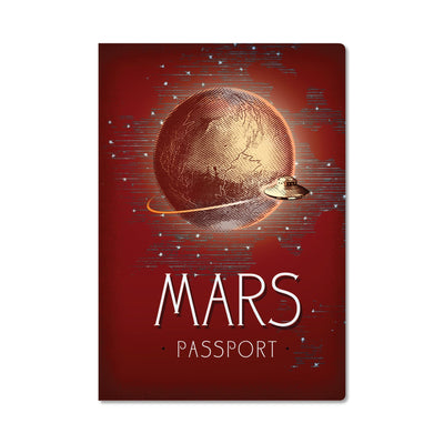 Unemployed Philosophers Guild Passport Notebook - Mars - Notegeist dot com