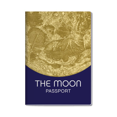 Unemployed Philosophers Guild Passport Notebook - Moon - Notegeist dot com