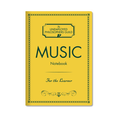 Unemployed Philosophers Guild Passport Notebook - Music - Notegeist dot com