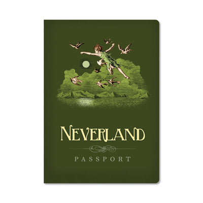 Unemployed Philosophers Guild Passport Notebook - Neverland - Notegeist dot com