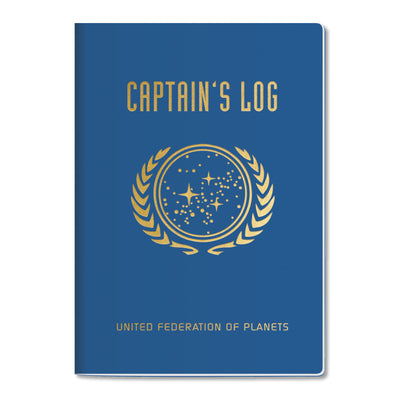 Unemployed Philosophers Guild LARGE Notebook - Star Trek Captain's Log - Notegeist dot com