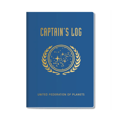Unemployed Philosophers Guild Passport Notebook - Star Trek Captain's Log - Notegeist dot com