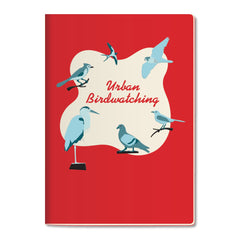 Unemployed Philosophers Guild LARGE Notebook - Urban Birdwatching - Notegeist dot com