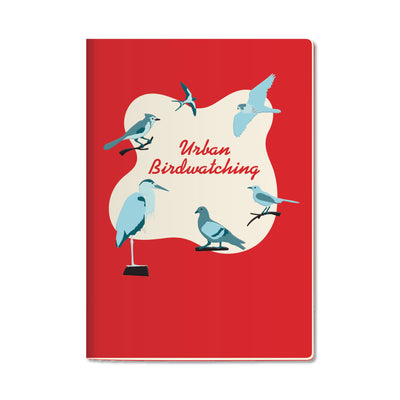 Unemployed Philosophers Guild Passport Notebook - Urban Birdwatching - Notegeist dot com