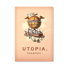 Unemployed Philosophers Guild Passport Notebook - Utopia - Notegeist dot com