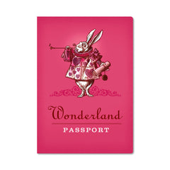 Unemployed Philosophers Guild Passport Notebook - Wonderland - Notegeist dot com