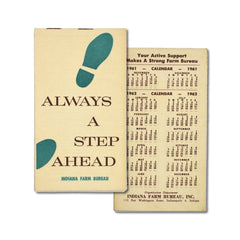Vintage Memo Book - Always a Step Ahead - 1962 - Notegeist dot com