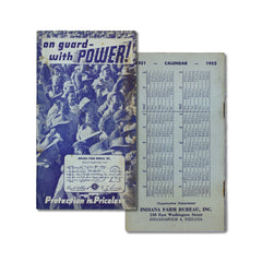 Vintage Memo Book - On Guard With Power - 1952 - Notegeist dot com