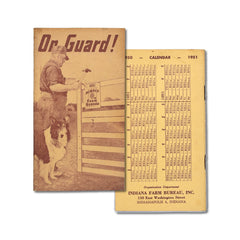 Vintage Memo Book - On Guard! - 1951 - Notegeist dot com