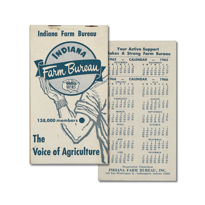 Vintage Memo Book - The Voice of Agriculture - 1966 - Notegeist dot com