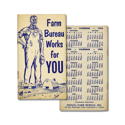 Vintage Memo Book - Farm Bureau Works For You - 1955 - Notegeist dot com