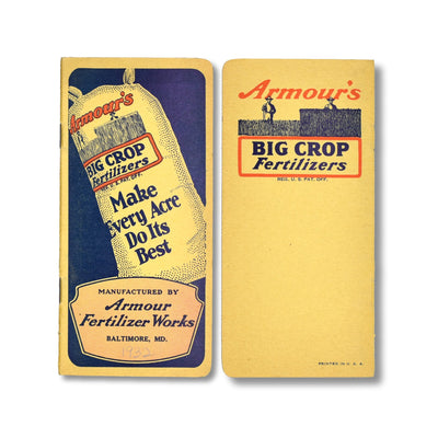 Vintage Memo Book - Armours Fertilizer - 1932-33 - Notegeist dot com