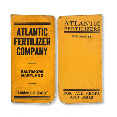 Vintage Memo Book - Atlantic Fertilizer - 1913-14 - Notegeist dot com