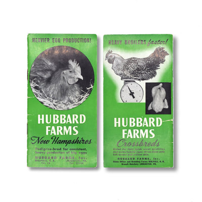 Vintage Memo Book - Hubbard Farms - 1952-53 - Notegeist dot com