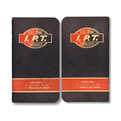 Vintage Memo Book - IPT Fertilizer - 1940 - Notegeist dot com