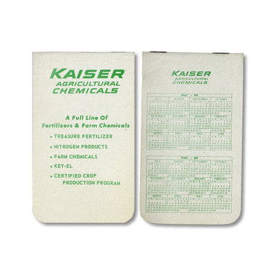 Vintage Memo Book - Kaiser Chemicals - 1967-69 - Notegeist dot com