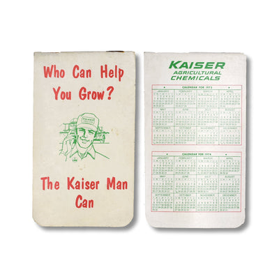 Vintage Memo Book - KaiserMan Can - 1973-74 - Notegeist dot com