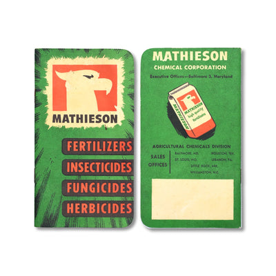 Vintage Memo Book - Mathieson Fertilizers - 1952-53 - Notegeist dot com