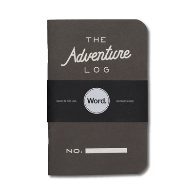 Word. Adventure Log Notebooks - Three Pack - Notegeist dot com