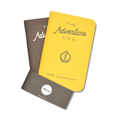 Word. Adventure Log Notebooks - Special Two Pack - Notegeist dot com