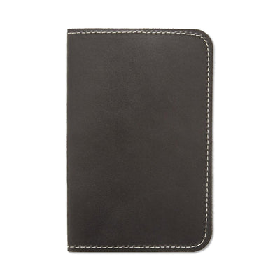 Word. Leather Notebook Sleeve - Black - Notegeist dot com
