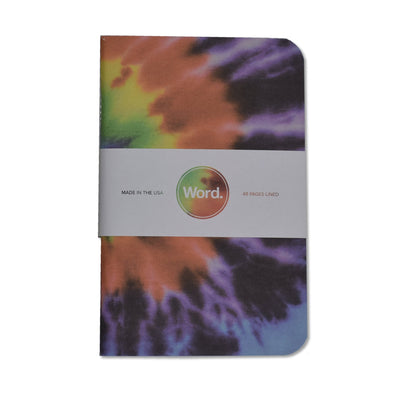 Word. Tie-Dye Notebooks - Notegeist dot com
