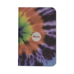 Word. Tie-Dye Notebooks - Cover - Notegeist dot com