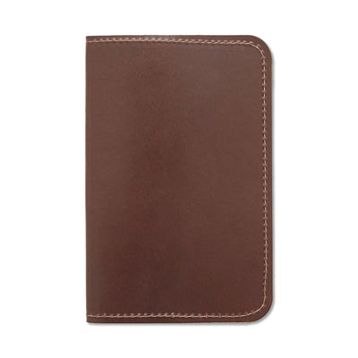 Word. Leather Notebook Sleeve - Brown - Notegeist dot com