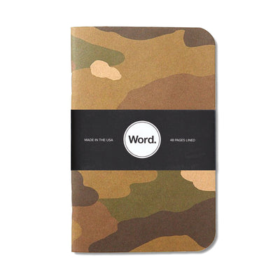 Word. Camo Notebooks - Notegeist dot com
