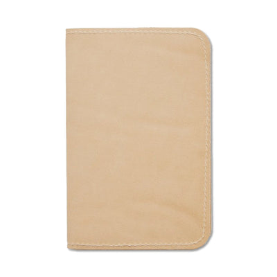 Word. Leather Notebook Sleeve - Tan - Notegeist dot com