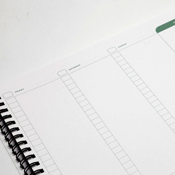 Write Notepads Weekly Planner - Page Layout - Notegeist dot com