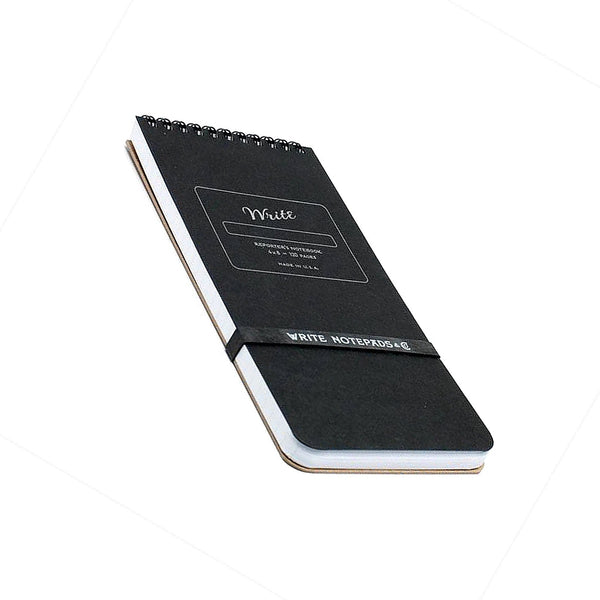 Write Notepads Reporter's Notebook - Black - Notegeist dot com
