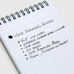 Write Notepads Reporter's Notebook - Paper - Notegeist dot com