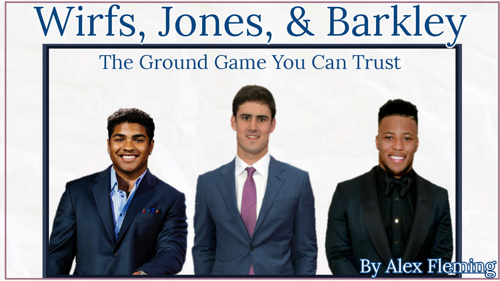 Wirfs, Jones, and Barkley: The Ground Game You Can Trust