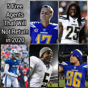 5 Free Agents That Will Not Return in 2020