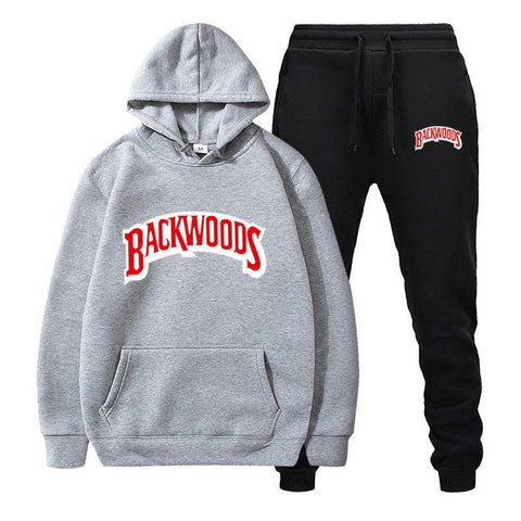Backwoods Men's Set Fleece Hoodie Pant Thick Warm Tracksuit Series 1