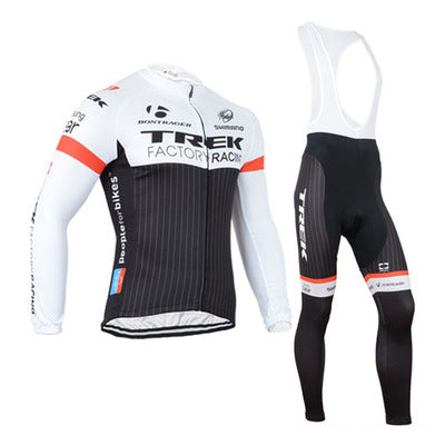 Men's Trek Summer Black And White Cycling Jersey Set