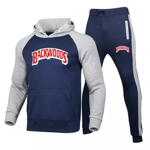 Backwoods Men's Set Fleece Hoodie Pant  Warm Tracksuit Series 2