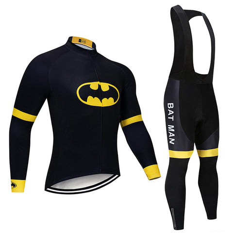 Men's Batman Winter Cycling Jersey & Bib Tight Set Cycling Jersey
