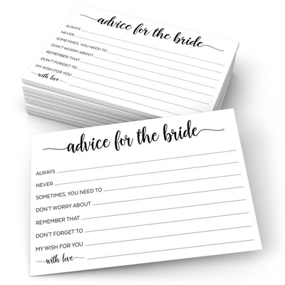 Advice for the Bride - Simple Script, White