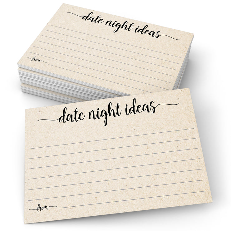 Date Night Ideas - Simple Script, Tan